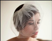 Two Tier Bridal Birdcage Veil With Comb