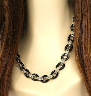 Other Two Tone 14k Gold Diamonds Black Onyx Links Ladies Long Chain