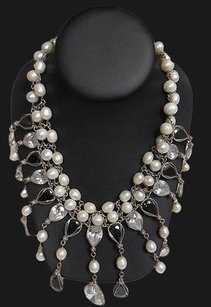 Veronica Moore Pearl W Black And White Adornments Statement Dress Necklace Hso72