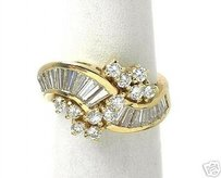 Vintage 14k Yellow Gold 2.00ct Diamond Ring