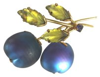 Vintage Austrian Glass Berries /Grapes / Plums Hat & Sweater Pin