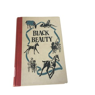 Vintage Copy of Black Beauty Hardcover Book by Anna Sewell Decor