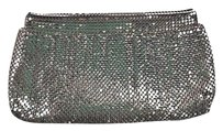 Whiting Amp Davis Co Womens Silver Clutch Metallic Handbag Purse Wallet