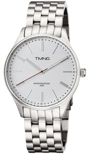 Tmng Mens Tm1001ng Stainless Steel White Dial Watch