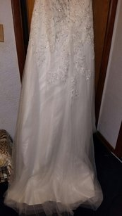 A-line/princess V Neck Court Train Organza Wedding Dress Wedding Dress
