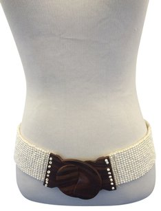 White Beaded Belt