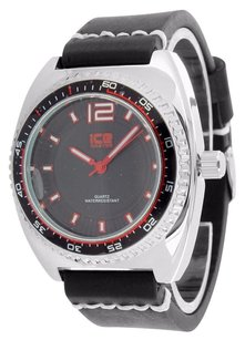 Other White Tachymeter Look Watch Black Leather Band Black Dial Joe Rodeo Jojino Sale