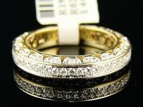 14k Ladies Yellow Gold Diamond Wedding Band Ring 1.0 Ct
