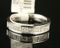1.00ct 14k Ladies Princess Diamond Wedding Band