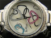 Womens Joe Rodeokc Jojo Heart Diamond Watch 1.60 Ct