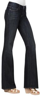 Paige Petite Stretchy Flattering Boot Cut Jeans-Dark Rinse