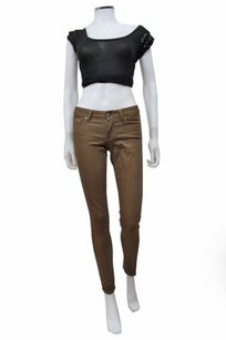 Paige Denim Paige Sparkly Olive Brown Verdugo Jeggings