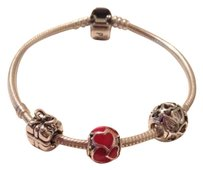 PANDORA Authentic Pandora Bracelet Made With High-Quality Spread It Mixed Materials Beads And Charm