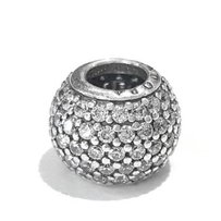 PANDORA Clear Pave Lights Sterling Silver Charm By Pandora