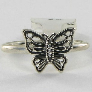PANDORA Pandora 190901cz Ring Vintage Butterfly Cubic Zirconia 7.75 925 Retired