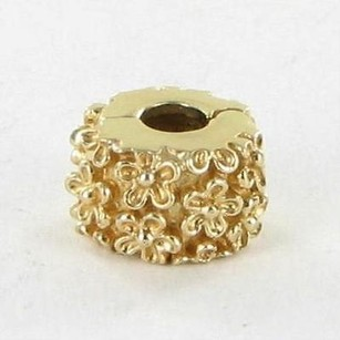 PANDORA Pandora 750507 Bead Charm Clip Golden Flower 14k Yellow Gold
