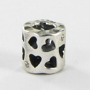 PANDORA Pandora 790275cz Charm Bead Tunnel Of Love Clear Cubic Zirconia 925