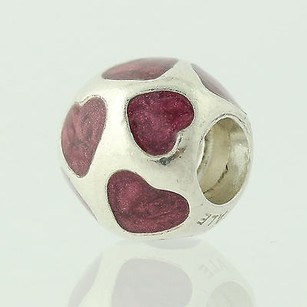 PANDORA Pandora Charm Bead - Sterling Silver Love You Purple 790543en13 Retired Ale
