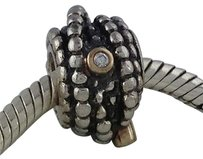 PANDORA Pandora Silver 14k Entangled Beauty Diamond Charm Bead 790277d