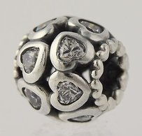 PANDORA Pandora Love All Around Charm - Clear Czs Sterling Silver Bead 791250cz