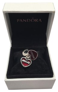 PANDORA Pandora Mickey and Minnie double heart charm in original gift pouch