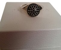 PANDORA Pandora Pave Fancy Black Ring Retired 190888cfp-54 7