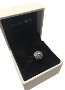 PANDORA Pandora shimming rose clip charm in original gift pouch