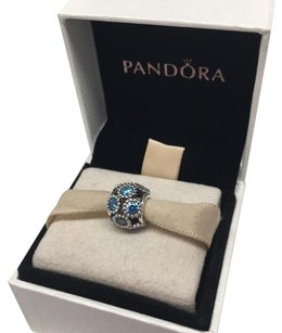 PANDORA Pandora studded teal lights charm in original gift pouch