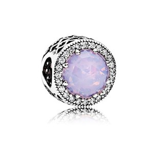 PANDORA Radiant Hearts, Opalescent Pink Crystal & Clear CZ