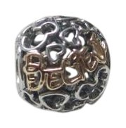 PANDORA Ss 14k Sterling Silver and Disney Believe Bead 791436 with