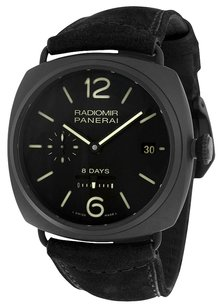 Panerai PANERAI Radiomir 8 Days Black Dial Automatic Black Ceramica Men's Watch PAM384