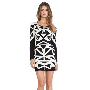 Parker Marzi Black White Long Dress