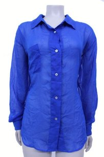 Patterson J. Kincaid Pjk Exclusive One Pocket Sheer Bloomingdales Top Blue