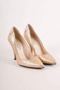 Pedro Garcia Rose Gold Pumps