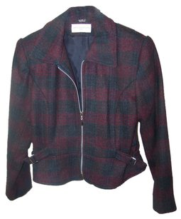 Petite Sophisticate red green plaid Jacket