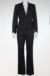 Philippe Adec Philippe Adec Womend Black Pant Suit Med Cotton Blazer Trousers