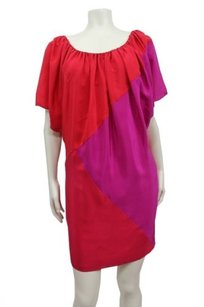 Phoebe Couture Color Block Silk Cut Dress