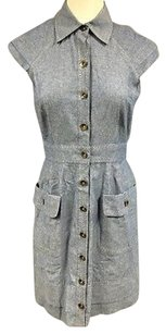 Phoebe Couture short dress Blue Denim on Tradesy
