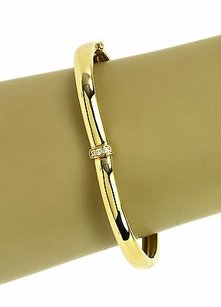 Piaget Designer Piaget 18k Yellow Gold Diamonds Ladies Heart Motif Bangle Bracelet