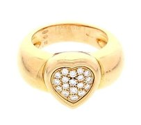 Piaget Ladies Piaget 18k Yellow Gold Diamond Heart Ring