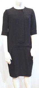 Piazza Sempione short dress Black Stretch on Tradesy