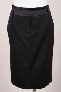 Piazza Sempione Satin Skirt Black