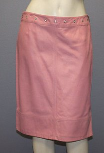 Piazza Sempione Leather Skirt Pink