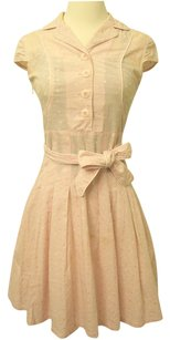 SunnyCoast Summer Vintage Classic Polka Dot Cotton Machine Washable Belted Dress