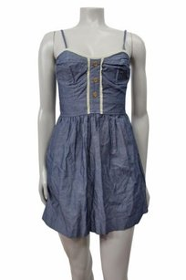 Pins and Needles Urban Outfitters Chambray Denim Bustier 0 Dress