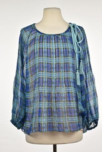 Plenty by Tracy Reese Womens Top Blue