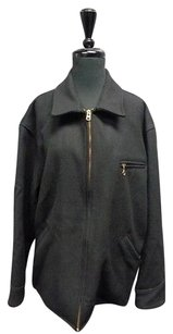 Polo Ralph Lauren And Gold Hardware Zip Up W Wool Sma9353 Black Jacket