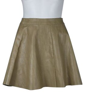 Pookie and Sebastian Amp Womens Above Knee Skirt Tan
