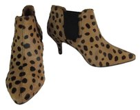 Pour La Victoire Pony Hair Leopard Brown Ankle Boots