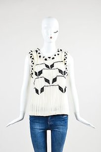 Prabal Gurung Cream And Black Top Multi-Color